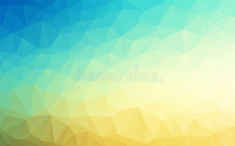 Dirigez le bleu géométrique de fond d'abrégé sur polygone pour poncer la couleur illustration stock