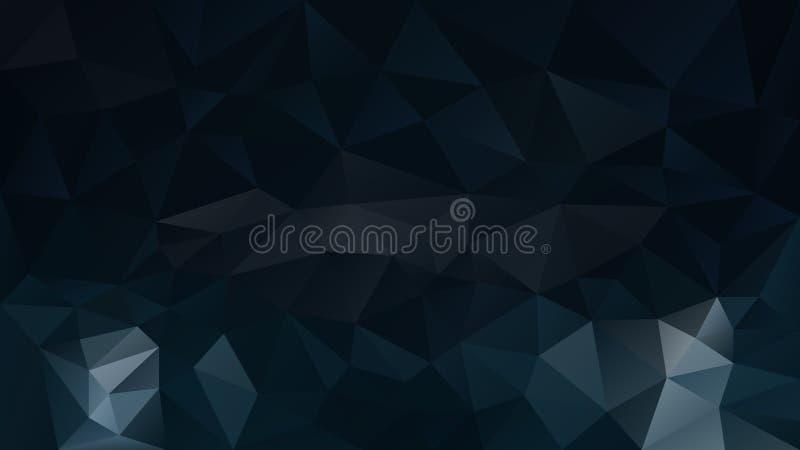 Dirigez le bleu profond foncé de fond polygonal irrégulier abstrait, indigo, pétrole et encrez la couleur noire illustration libre de droits