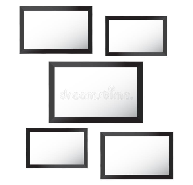 Dirigez le cadre pour des photos et des photos, collage de photo, puzzle de photo Présentation de marquage à chaud de conseil d'h illustration libre de droits