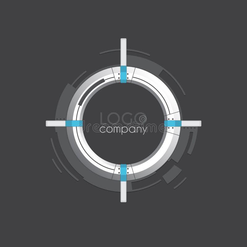 Dirigez le cadre rond de pointe pour la société ou le texte de logo Temp de vecteur illustration de vecteur