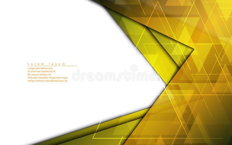 Dirigez le calibre d'or de conception moderne de cadre de fond abstrait illustration libre de droits