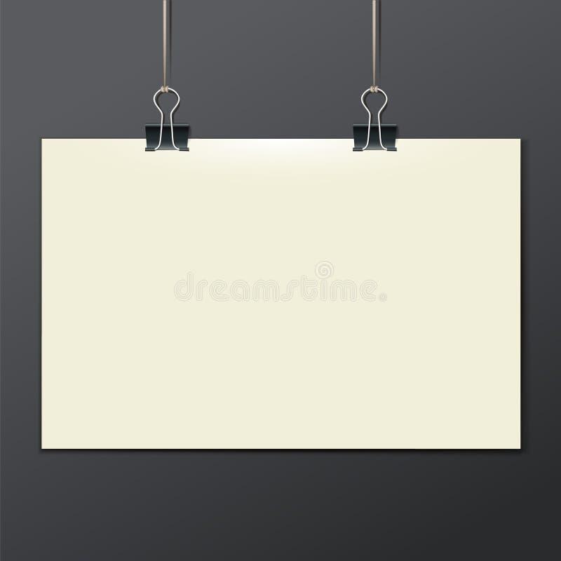 Dirigez le calibre d'une feuille de papier - affiche, photo illustration de vecteur