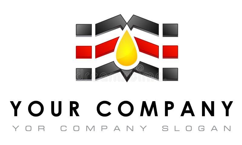 Dirigez le calibre de logo, voiture réparant, pitstop, bio illustration stock