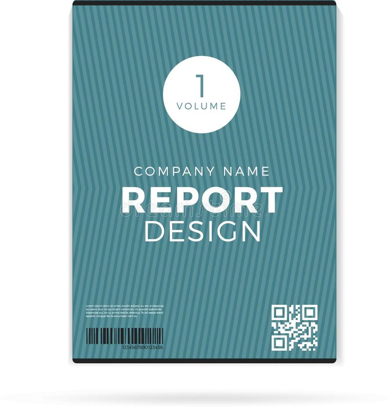 Dirigez le calibre de rapport de disposition de conception d'insecte de brochure dans la taille A4 illustration stock