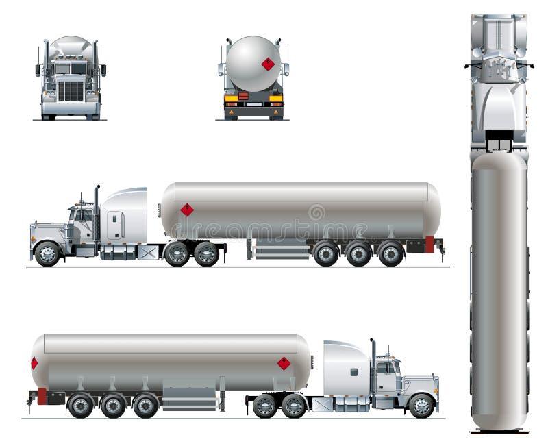 Dirigez le calibre réaliste de camion de tunker d'isolement sur le blanc illustration stock