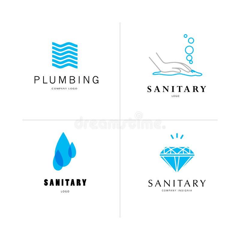 Dirigez le calibre sanitaire et hygiénique plat d'insignes de société illustration libre de droits