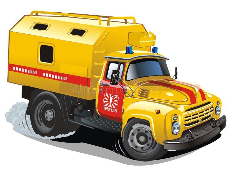 Dirigez le camion de réparation de dessin animé illustration de vecteur