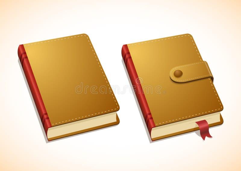 Dirigez le carnet brun illustration de vecteur