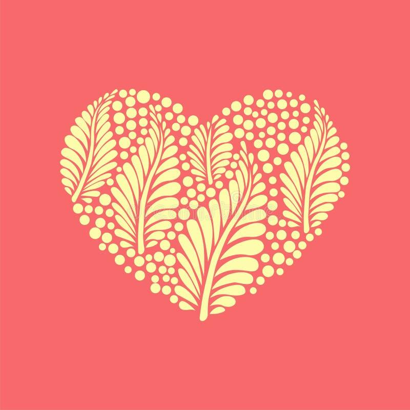 Dirigez le coeur floral illustration stock