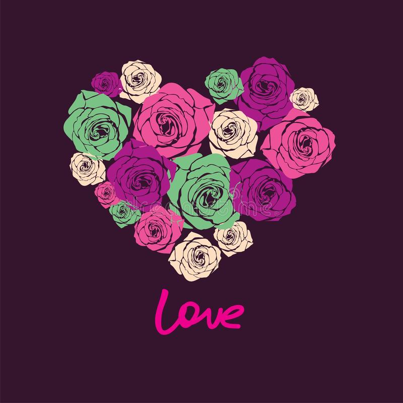 Dirigez le coeur floral illustration stock