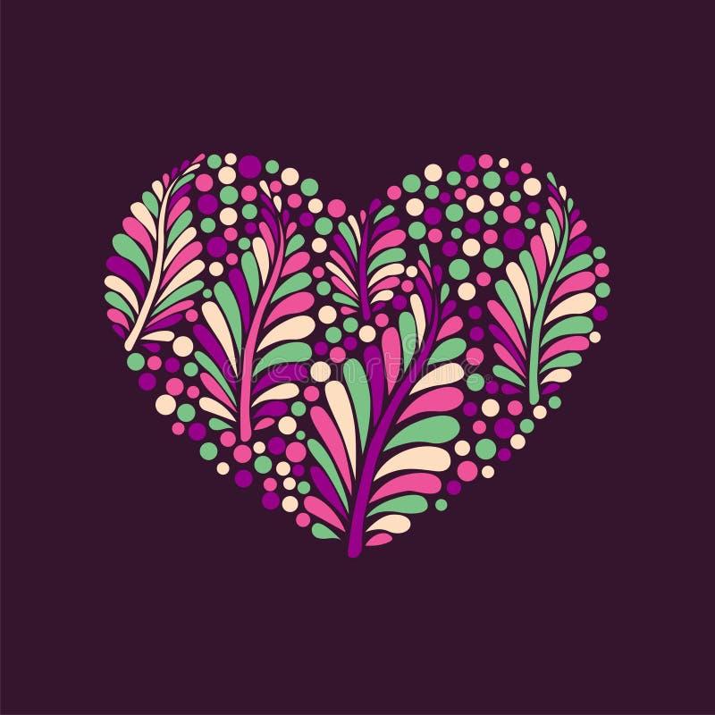 Dirigez le coeur floral illustration libre de droits