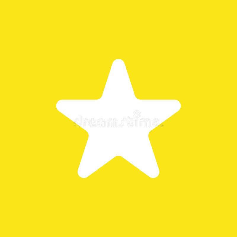 Dirigez le concept d'icône de la forme d'étoile sur le fond jaune illustration stock