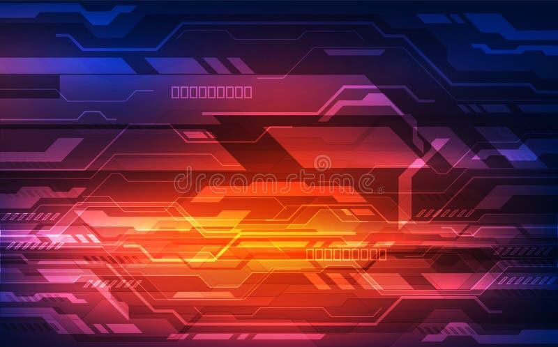 Dirigez le concept numérique de technologie de vitesse, fond abstrait illustration stock