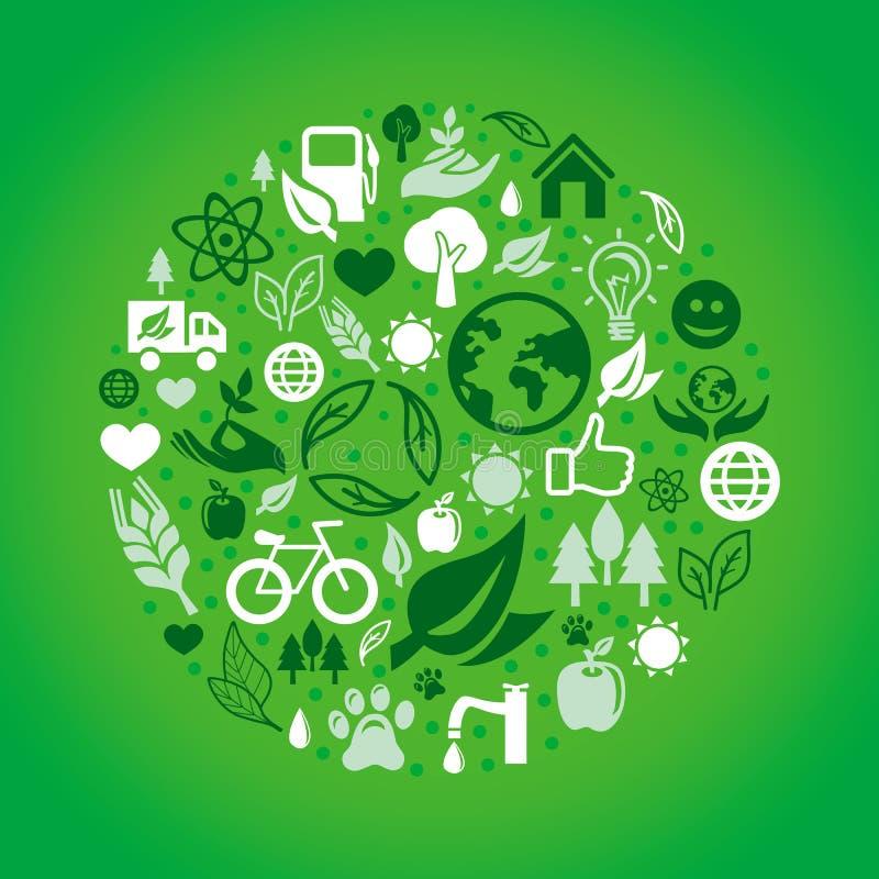 Dirigez le concept vert d'écologie illustration de vecteur
