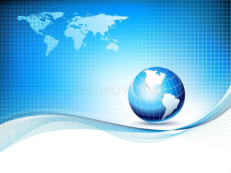 Dirigez le descripteur de conception avec le globe et la carte de la terre illustration de vecteur