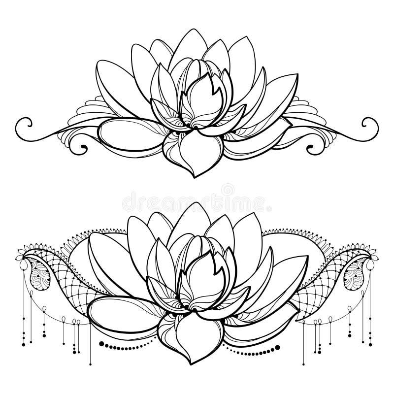 Dirigez Le Dessin Avec La Fleur De Lotus Densemble La