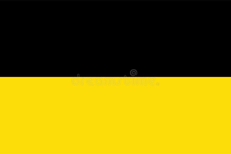 Dirigez le drapeau de la ville de Namur, région de la Wallonie, Belgique illustration libre de droits