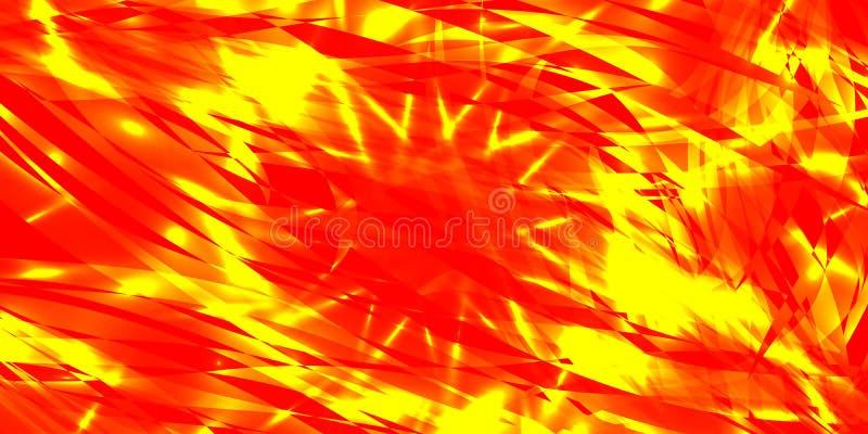 Dirigez le fond éclaté rougeoyant de l'écoulement rouge et jaune lin illustration de vecteur