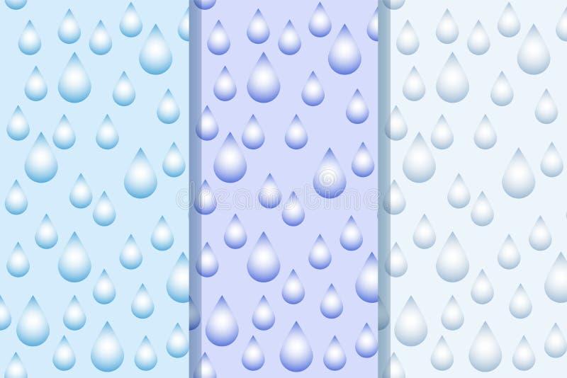 Dirigez le fond abstrait avec des baisses de l'eau sur le gradient bleu illustration libre de droits