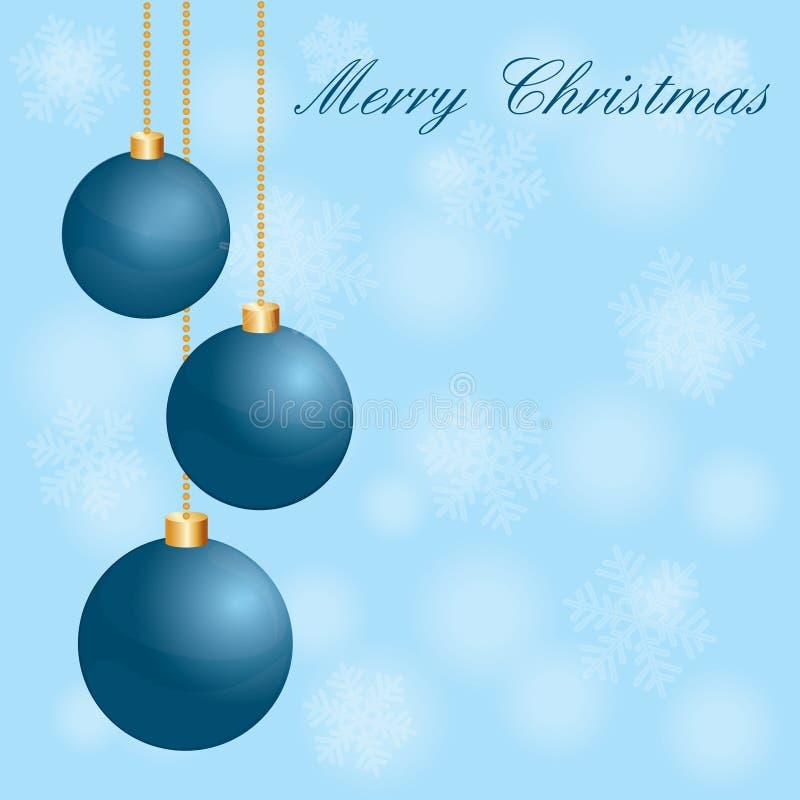 Dirigez le fond bleu de vacances de Noël image stock