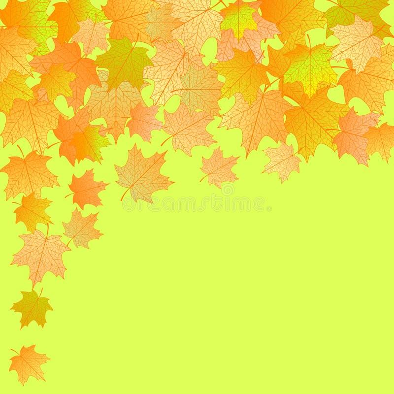 Dirigez le fond d'automne. illustration stock