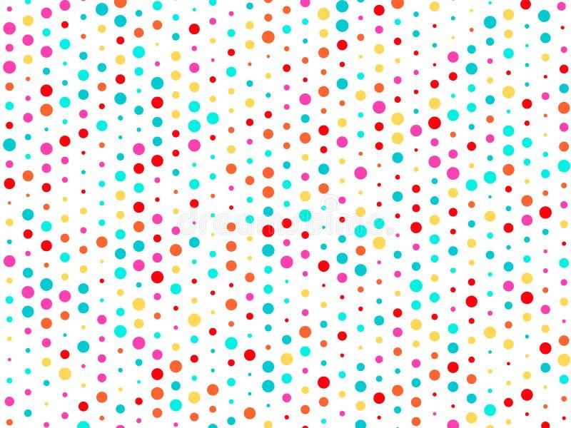 Dirigez le fond de beaucoup de cercles colorés de taille aléatoire et de couleur aléatoire illustration stock