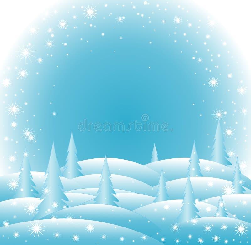 Dirigez le fond de bonne année glaciale et de Joyeux Noël avec des flocons de neige illustration stock