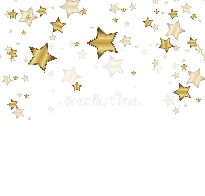 Dirigez le fond de confettis pour la carte de luxe de riches de salutation Célébration de confettis d'or, décoration abstraite d' illustration stock