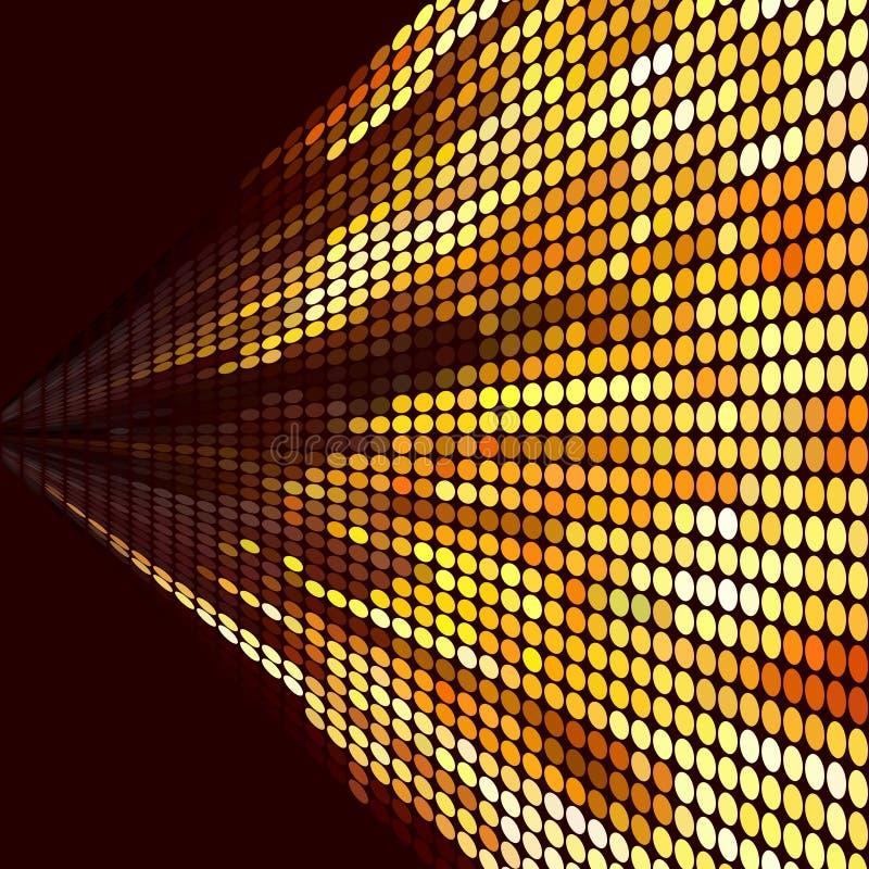 Dirigez le fond de mosaïque dans des couleurs de noir et d'or illustration de vecteur