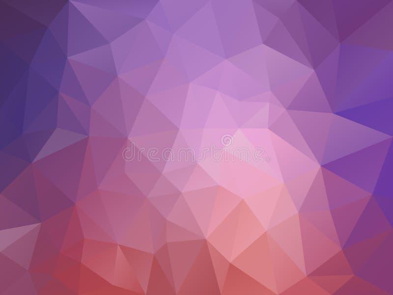 Dirigez le fond de polygone avec un modèle de triangle dans la vieille couleur pourpre de gradient de rose et de lavande illustration libre de droits