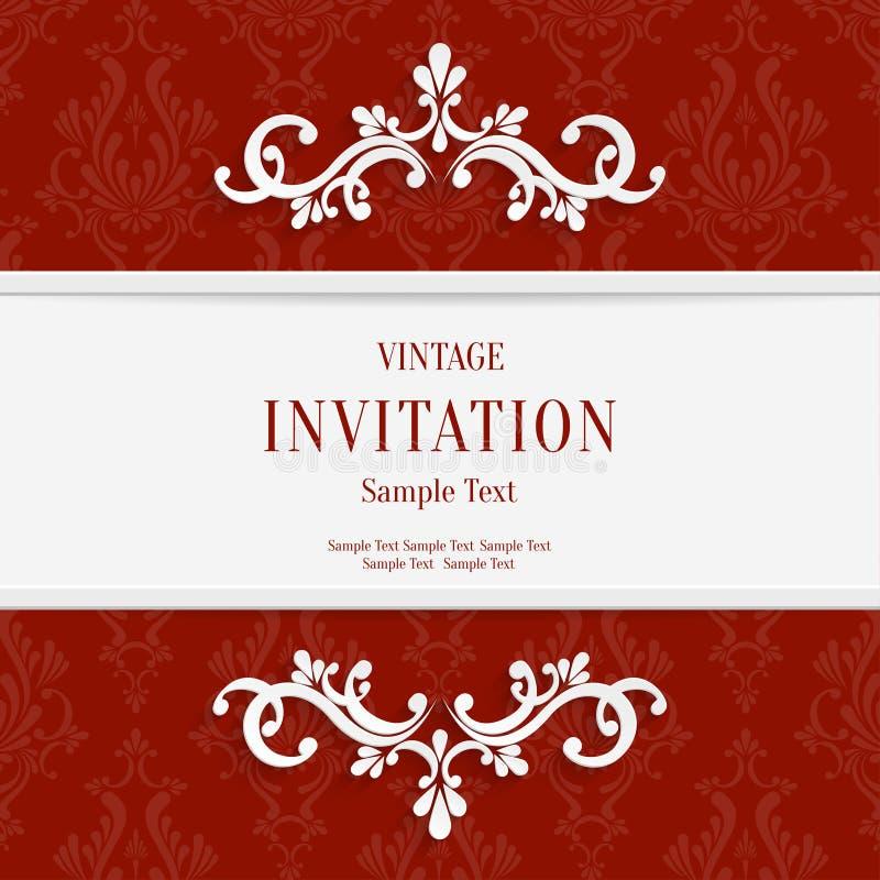 Bien-aimé Dirigez Le Fond Floral Rouge De Cartes D'invitation De Noël 3d  EH34
