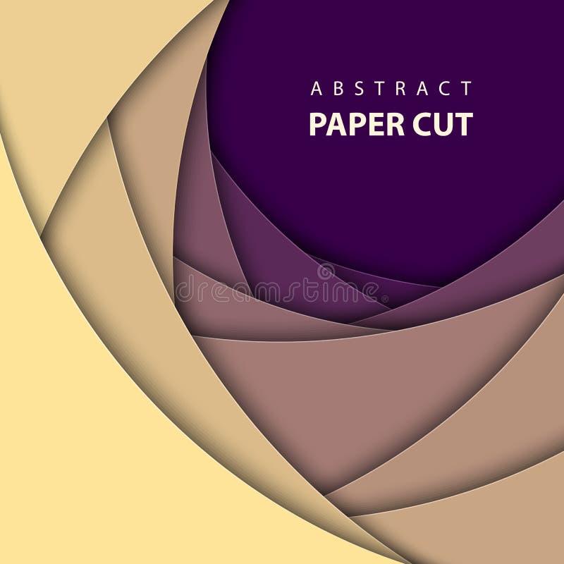Dirigez le fond géométrique avec des formes multicolores de coupe de papier illustration libre de droits