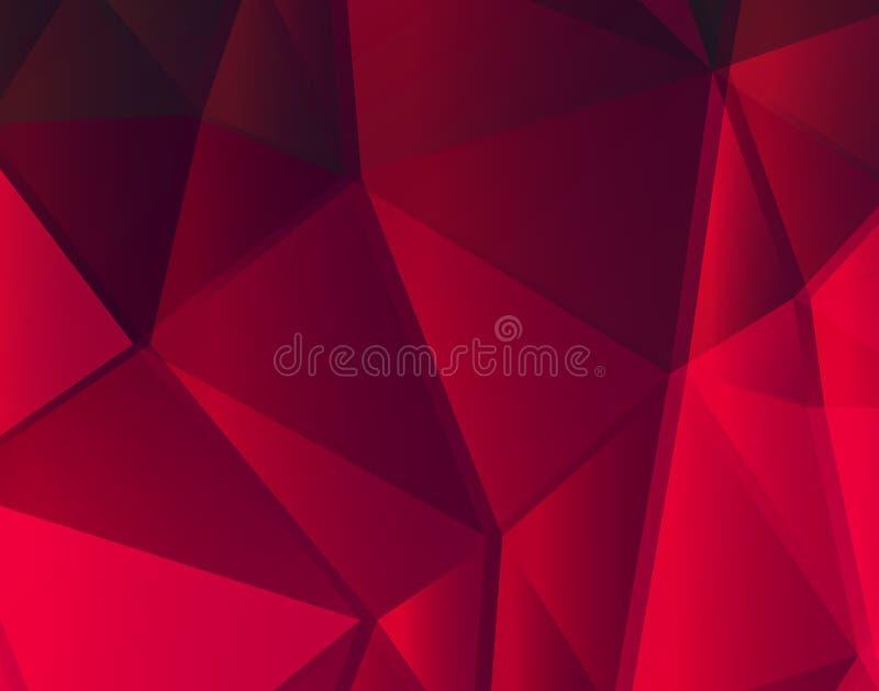 Lignes rouges fond géométrique ENV 10 illustration stock