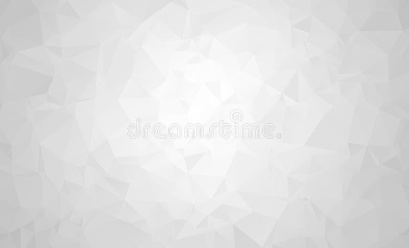 Dirigez le fond géométrique polygonal moderne abstrait de triangle de polygone Grey Geometric Triangle Background illustration libre de droits