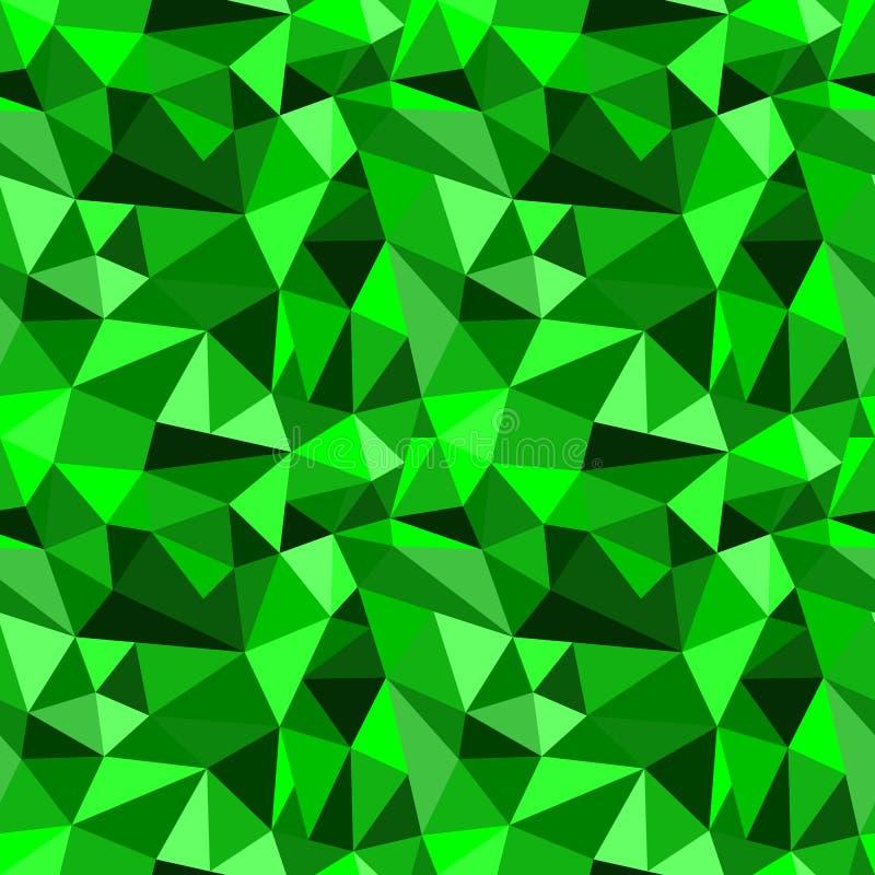 Dirigez le fond graphique triangulaire fripé géométrique abstrait vert sans couture illustration de vecteur
