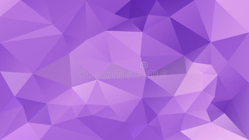 Dirigez le fond polygonal irrégulier - bas poly modèle de triangle - l'ultraviolet, lavande légère et couleur pourpre illustration libre de droits