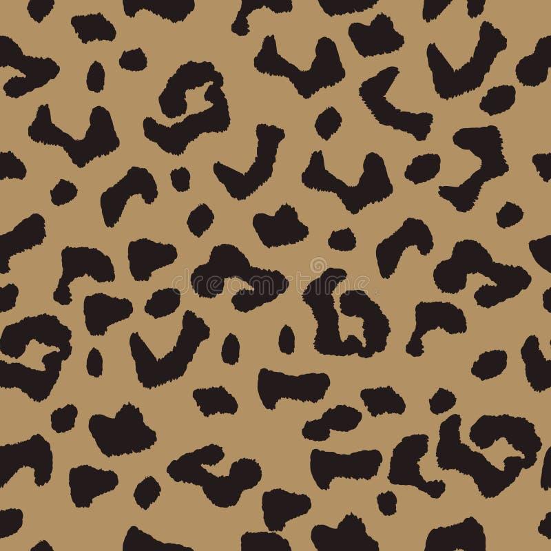 Dirigez le fond sans couture avec l'ornement tacheté de léopard, le papier peint, l'idéal de modèle pour des conceptions de texti image libre de droits