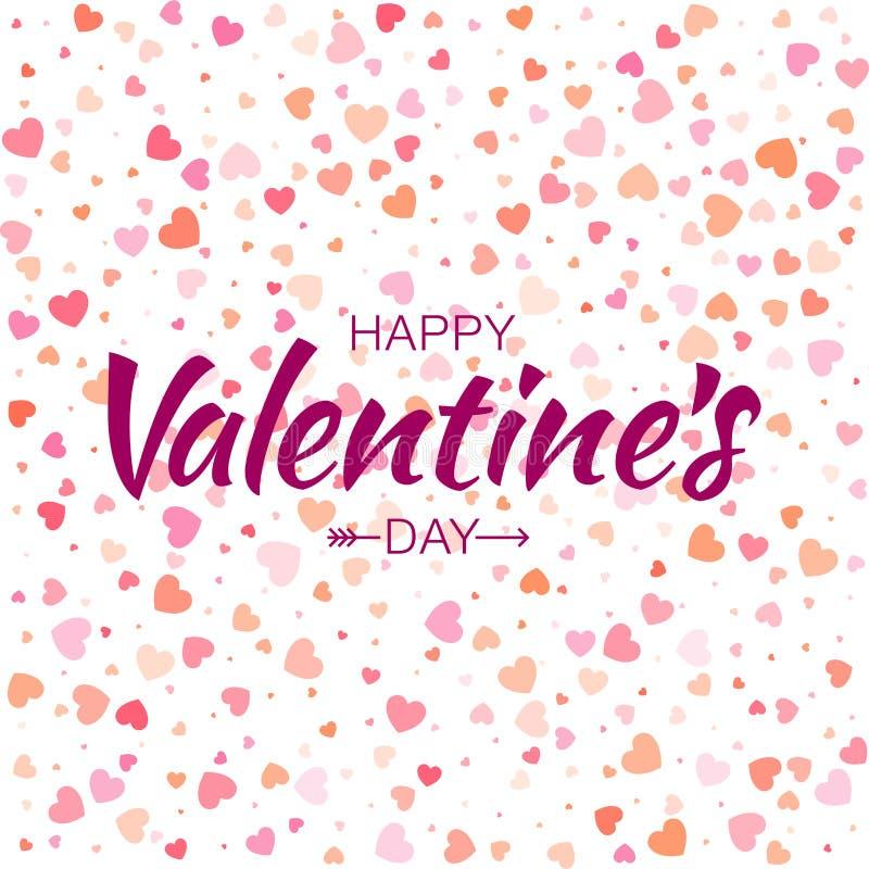 Dirigez le fond sans couture de coeurs de modèle de valentines de carte heureuse colorée de jour illustration libre de droits
