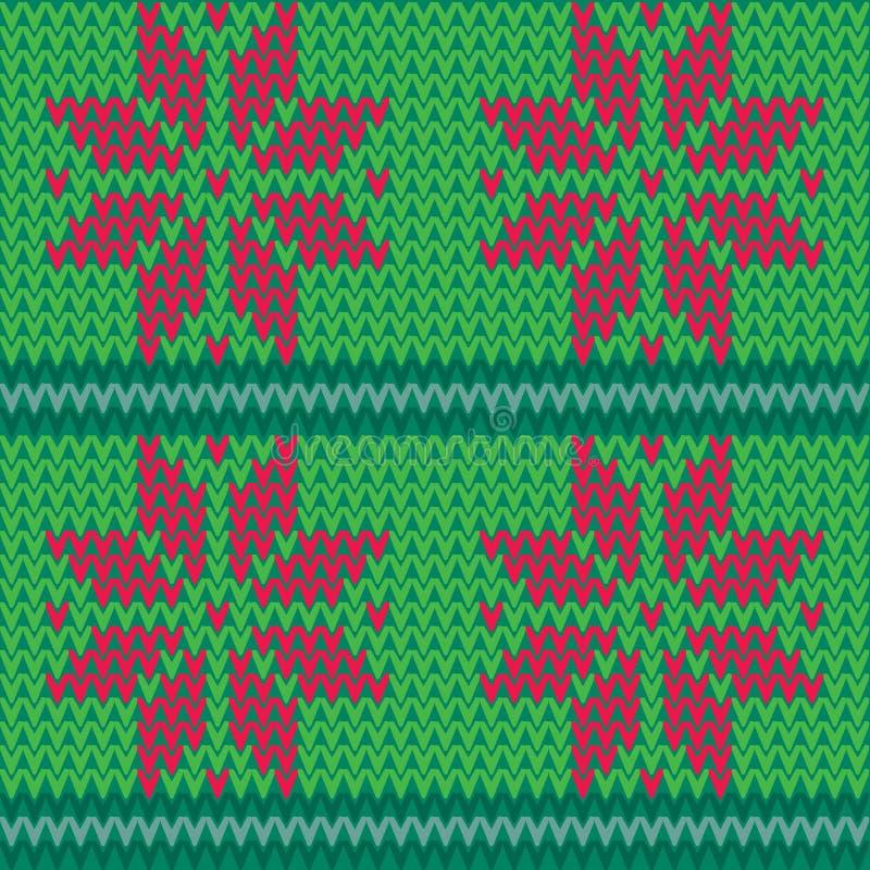 Dirigez le fond sans couture de modèle d'île rouge et verte de Faire illustration stock