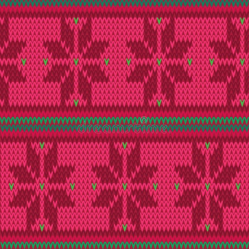 Dirigez le fond sans couture de modèle d'île rouge et verte de Faire illustration libre de droits