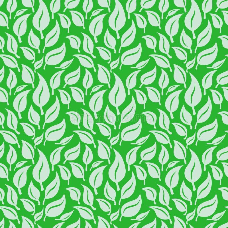 Dirigez le fond sans joint avec les lames vertes illustration stock