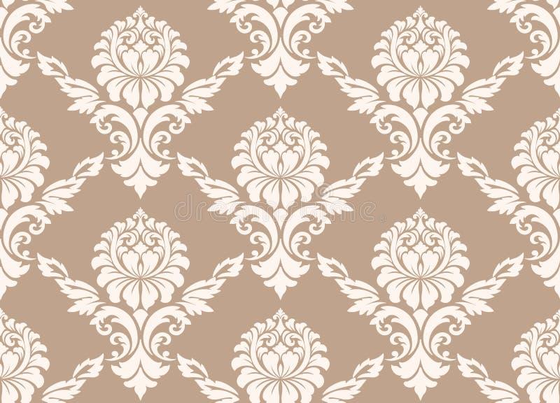 Dirigez le fond sans joint de configuration de damassé Ornement démodé de luxe classique de damassé, victorian royal sans couture illustration libre de droits