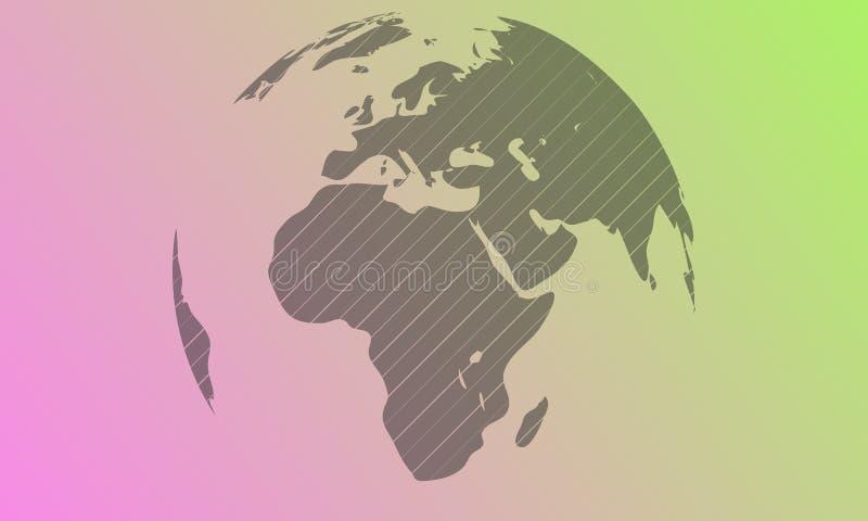 Dirigez le globe et les courses légers pour 45 degrés Gradient BG illustration libre de droits