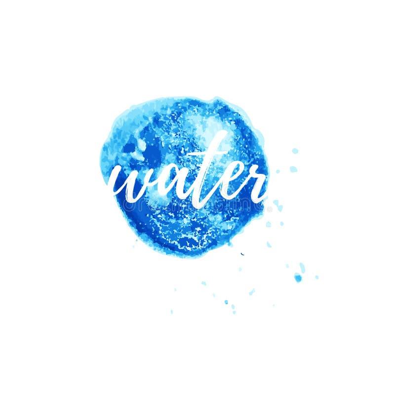 Dirigez le logo de l'eau pour la société d'entreprise de bien-être de style, salon de station thermale, entreprise d'écologie illustration de vecteur
