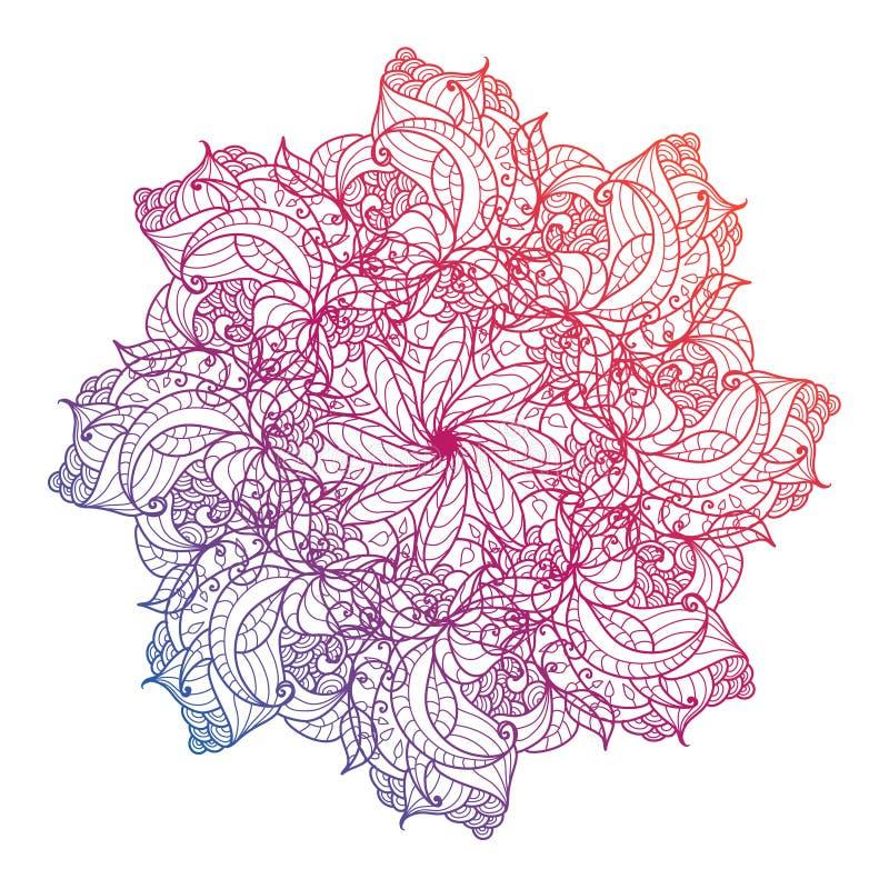 Dirigez le mandala, floral, fleur, modèle oriental de cercle L'Islam, l'arabe, Indien, turc, Pakistan illustration libre de droits