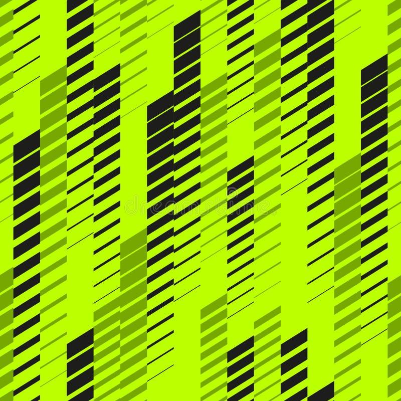 Dirigez le modèle au néon abstrait de sport avec les lignes de effacement, voies, rayures tramées Configuration urbaine Modèle au illustration stock