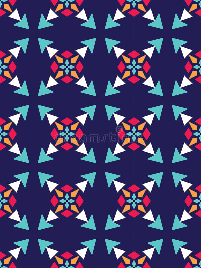 Dirigez le modèle coloré sans couture moderne de la géométrie, abrégé sur couleur illustration de vecteur