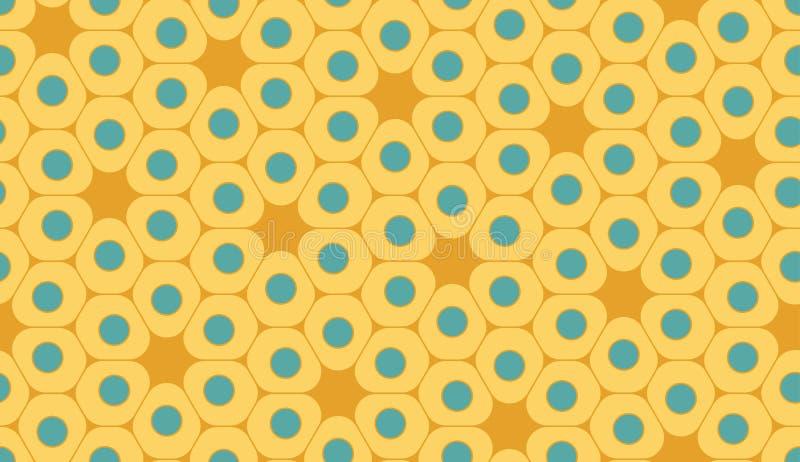 Dirigez le modèle coloré sans couture moderne de la géométrie, cellules illustration stock