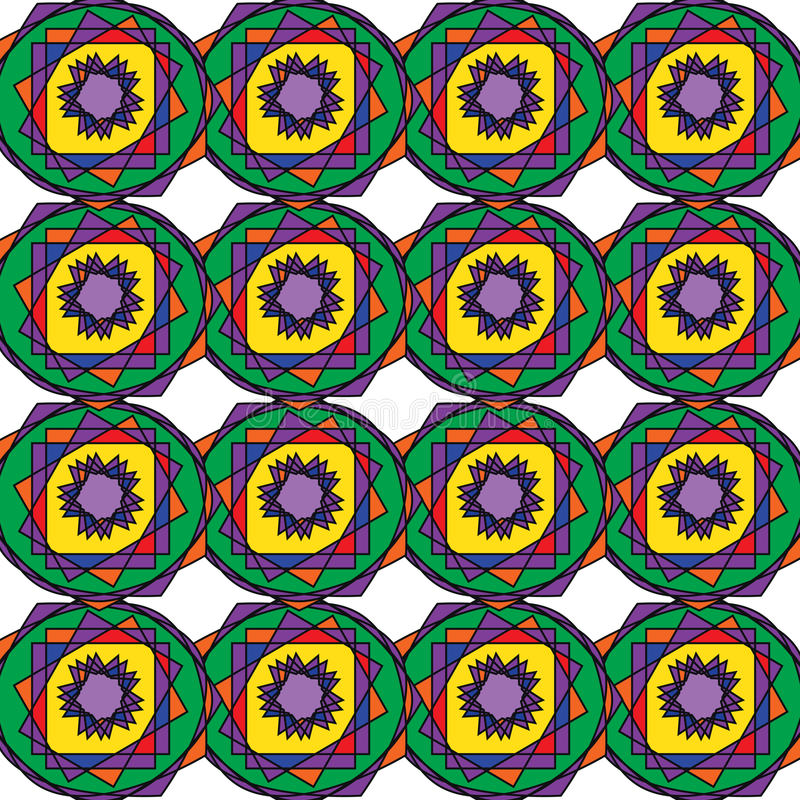 Dirigez le modèle coloré sans couture moderne de la géométrie, fond géométrique abstrait de couleur, reposez la copie multicolore illustration de vecteur