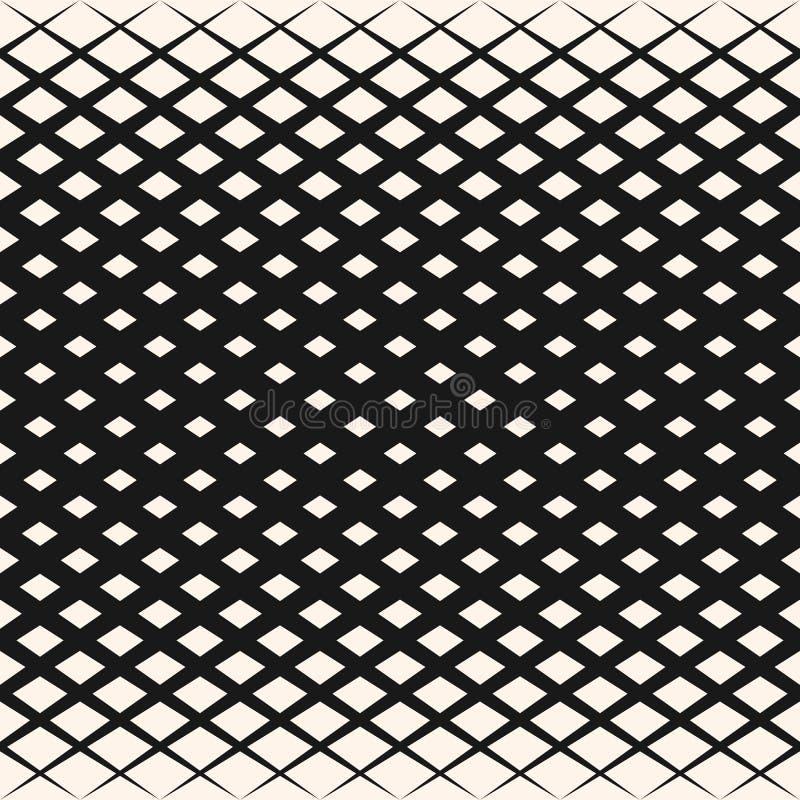 Dirigez le modèle géométrique tramé avec des losanges, formes de diamant, grille diagonale illustration libre de droits